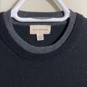 Club Monaco black sweater - 100% merino wool